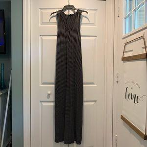 Lord & Taylor Striped Maxi Dress